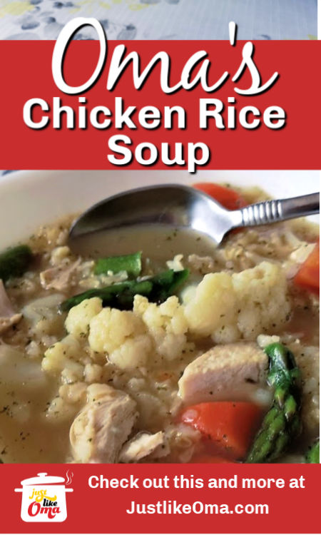 Make this easy traditional chicken rice soup made just like Oma!