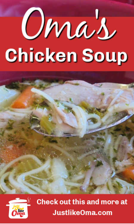 Make Oma's Chicken Vegetable Soup when you're wanting some traditional German food. Wunderbar!