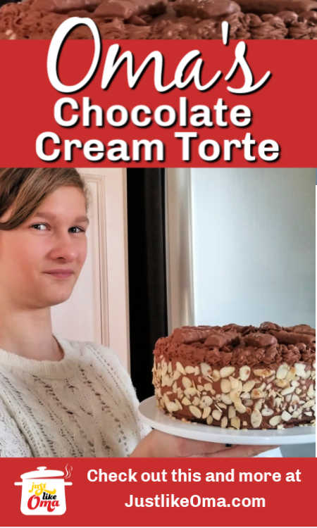 ❤️ Most shared German Chocolate Cream Torte! Make this just like Oma's.