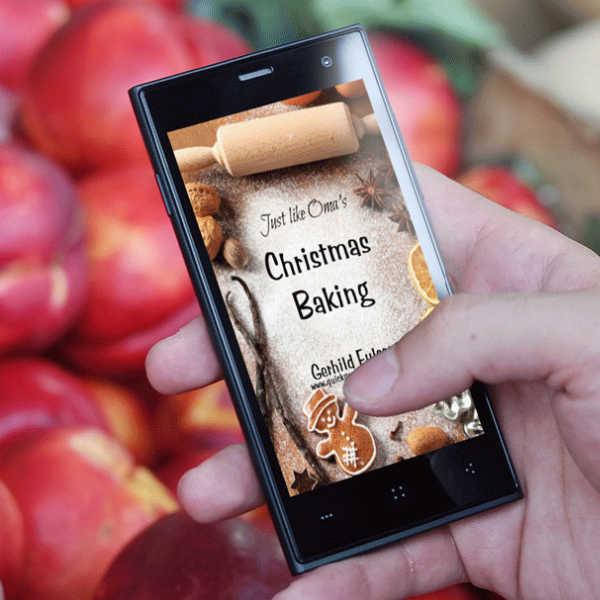 Christmas Baking eCookbook on iphone
