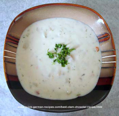 German Soup Recipe: best clam chowder