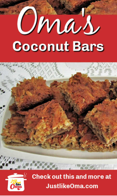 ❤️ Super easy Coconut Bar Cookies with Pecans ... made just like Oma