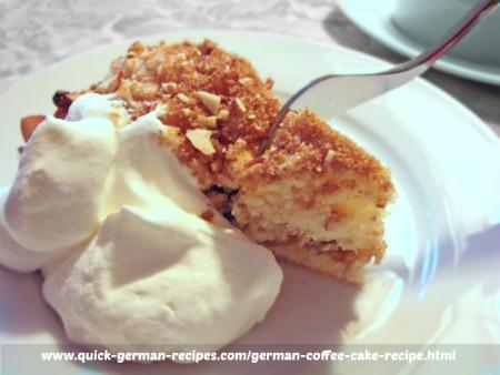 Coffee Cake - with cinnamon, nuts, brown sugar, and raisins
