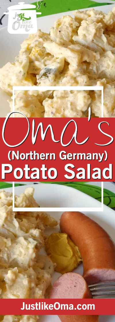 Learn how to make German Potato Salad -- from northern Germany. ❤️ #potatosalad #germanrecipes #justlikeoma Check out https://www.quick-german-recipes.com/cold-german-potato-salad-recipe.html
