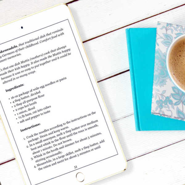 Comfort Foods - Easy Recipes eCookbook on iphone