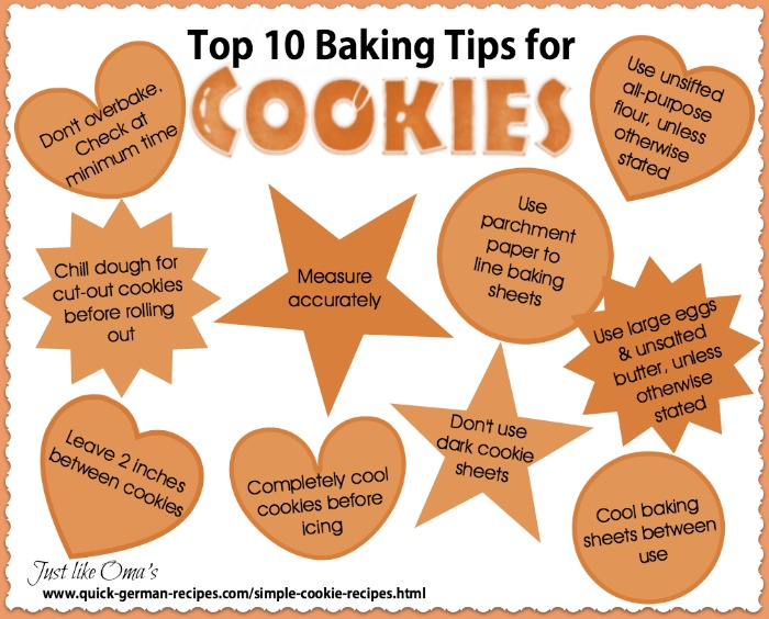 Oma's Top 10 Cookie Tips