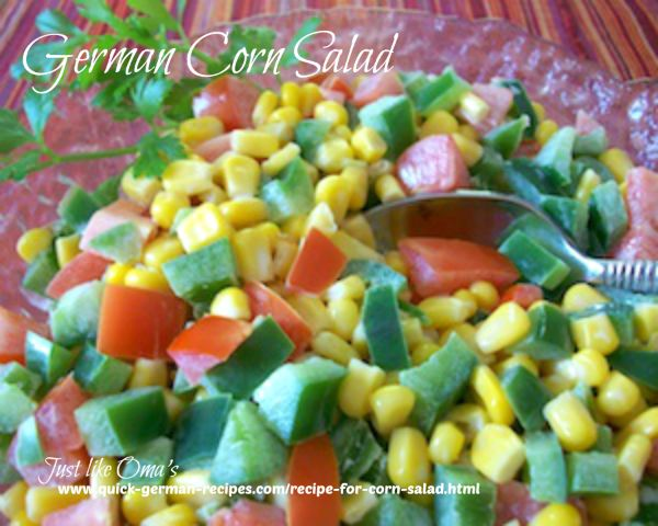 Corn Salad - a colorful and quick German salad