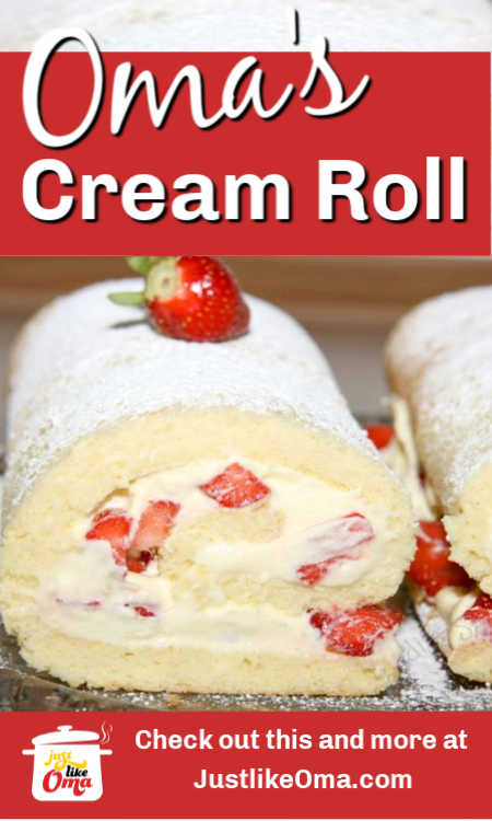 Delicious fruit-filled cream rolls!  Don't be afraid to get crafty with these when you make them, you can fill them with any fruit you desire!