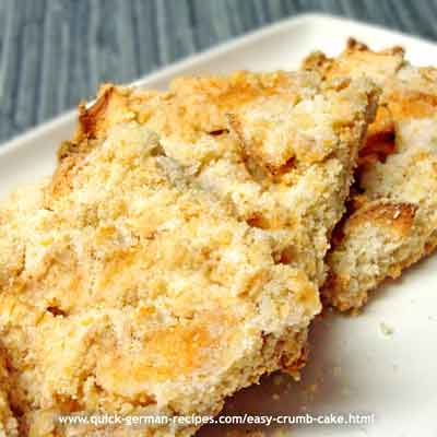 Easy Crumb Cake - sent in by another Gerhild