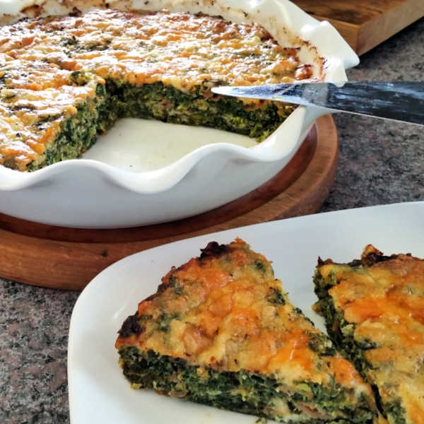 Crustless Spinach Quiche Made Just Like Oma