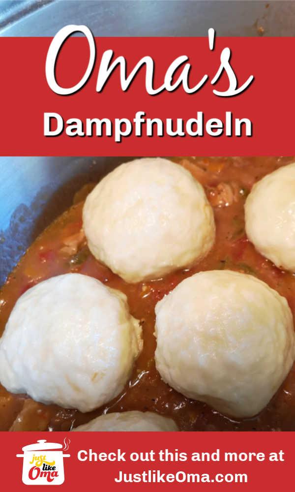 Serving leftover Dampfnudeln (German Steamed Buns or Dumplings) with goulash.
