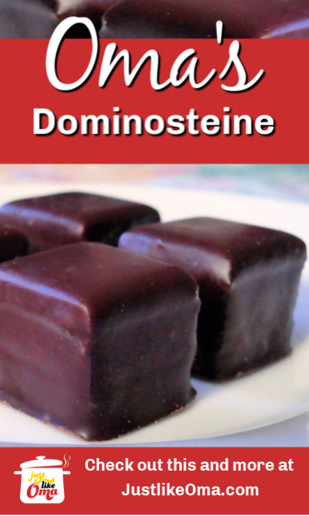 ❤️ Dominosteine made Just like Oma a German Christmas treat!