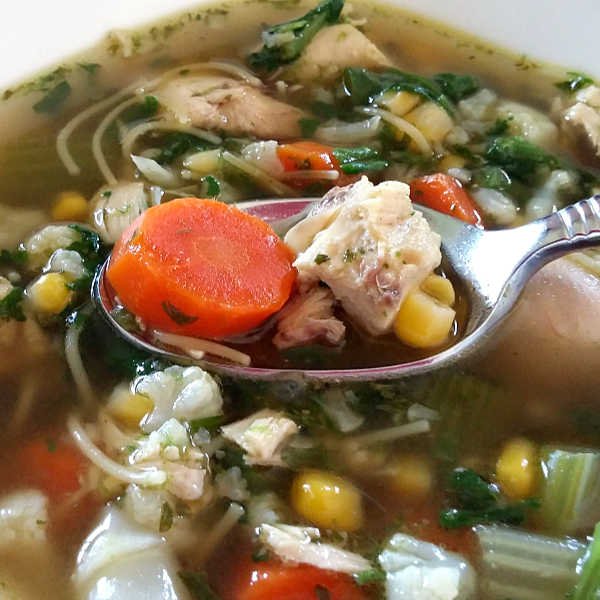 Homemade Chicken Noodle Soup -- easily, just like Oma made!