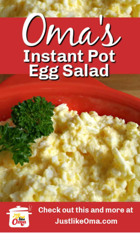 Use your pressure cooker (I have the Instant Pot) and it makes this super easy egg salad without peeling your eggs!