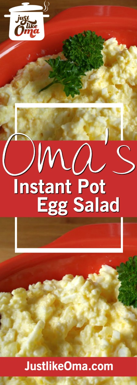 Use your Instant Pot pressure cooker and makes this easy egg salad extra easy. No hard to peel eggs. Perfection! ❤️ http://www.quick-german-recipes.com/easy-egg-salad.html