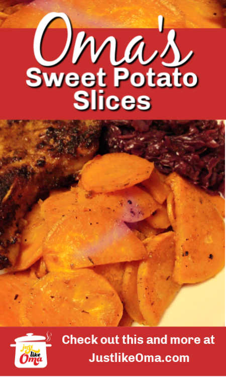 ❤️ Easy Roasted Sweet Potatoes -- so simple to make and so delicious, made just like Oma.