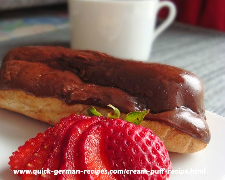 German Dessert: Eclairs
