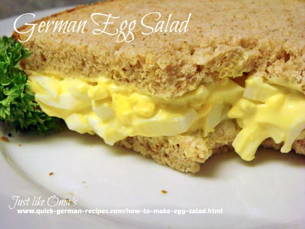 German Egg Salad Sandwich