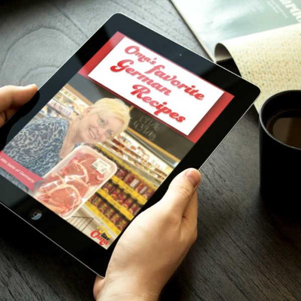 Oma's Favorite German Recipes eCookbook on ipad