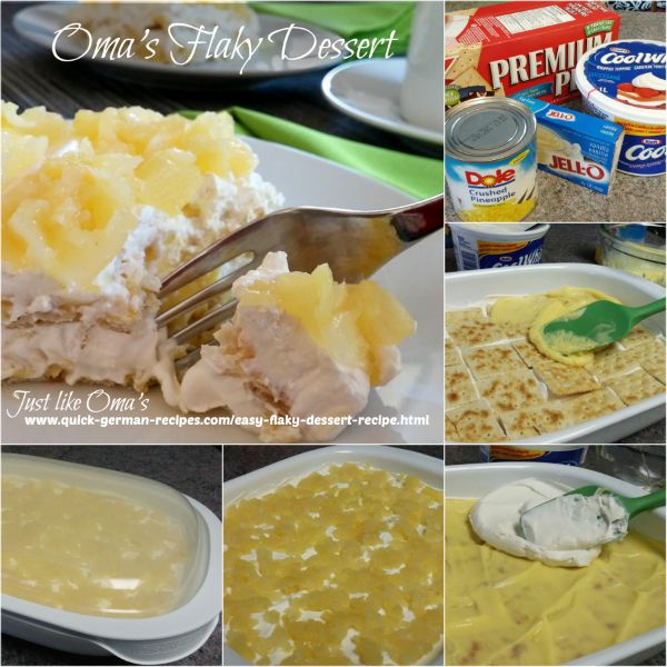 Oma's Flaky Dessert - how to make it