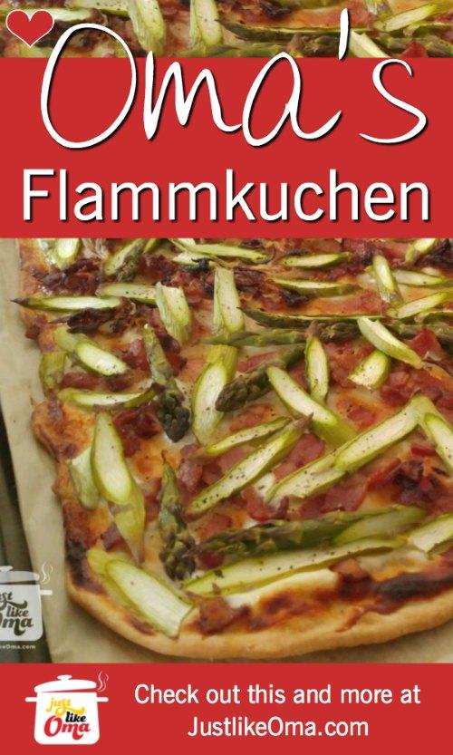 ❤️Making Oma's Tarte Flambèe ~ Flammkuchen ... a type of German pizza. https://www.quick-german-recipes.com/tarte-flambee.html #germanrecipe #justlikeoma #pizza