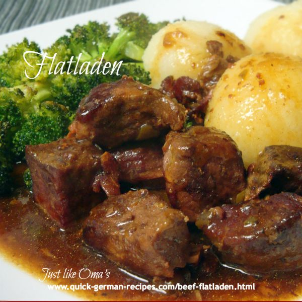 Flatladen - alternative to rouladen - same great taste