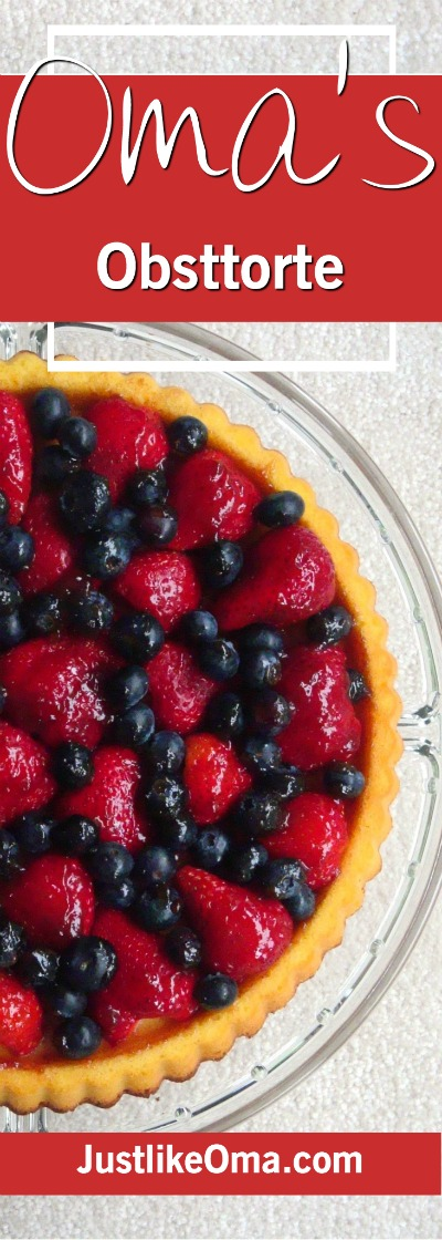 Strawberry & Blueberry Obsttorte ... so easy, so quick, and so wunderbar! Check it out at https://www.quick-german-recipes.com/fruit-flan-recipe.html ❤️it!  it! Make it! Enjoy it!