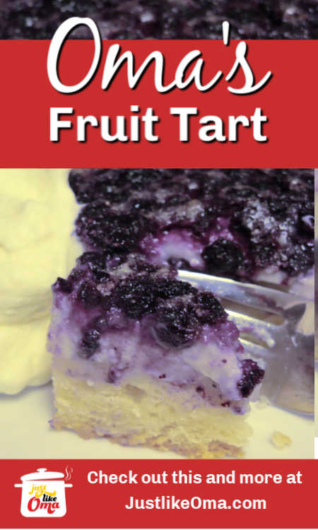 This blueberry fruit tart is based on the German Obsttorte. What a refreshing dessert!