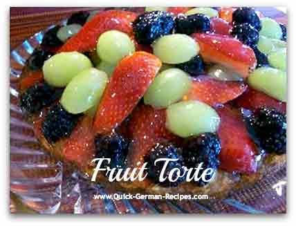 German cake recipes: Obsttorte or German Fruit Torte