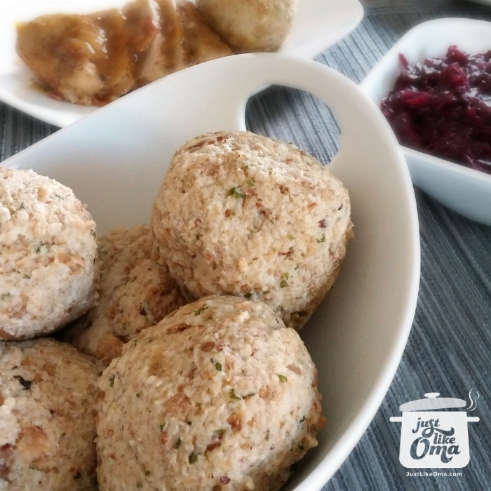 Bowl of German Bread Dumplings