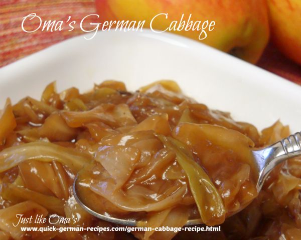 Oma's German Cabbage Recipe