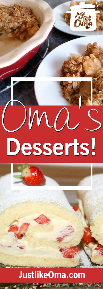 Looking for easy German dessert recipes? Take a look at Oma's! Delicious! ❤️ #germandesserts #germanrecipes #justlikeoma https://www.quick-german-recipes.com/easy-german-dessert-recipes.html