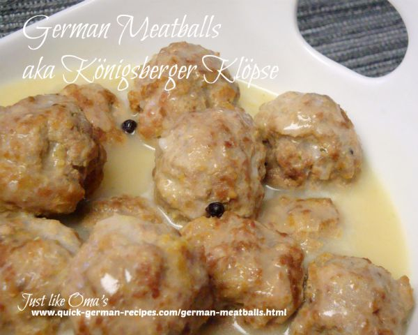 Meatballs: Königsberger Klopse -  with hollandaise sauce