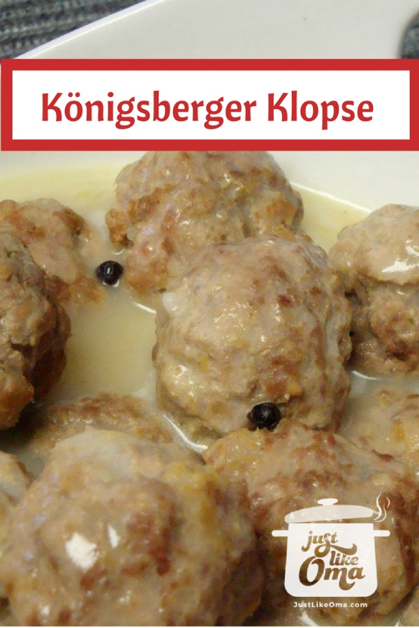 German meatballs, called Königsberger Klopse  with a Hollandaise-type sauce