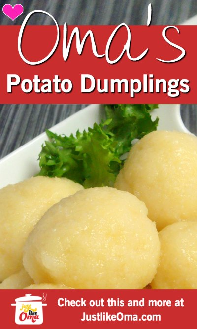 YUMMY! German potato dumplings! ❤️ #potatodumplings #germanrecipes #justlikeoma https://www.quick-german-recipes.com/german-potato-dumplings.html