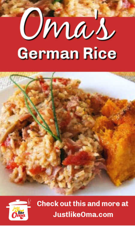 30-minute German Rice dinner made just like Oma! What a Wunderbar meal idea.