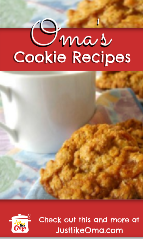 So many cookie recipes to try made just like Oma!