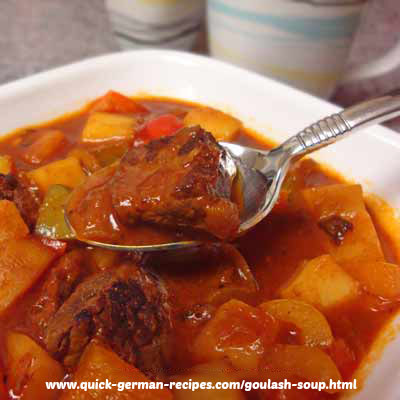 Goulash Soup - so traditionally German