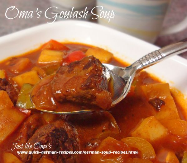 Oma's Goulash Soup