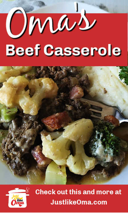 Oma's German Ground Beef Casserole. Yum! Make this when you're wanting something deliciously special.