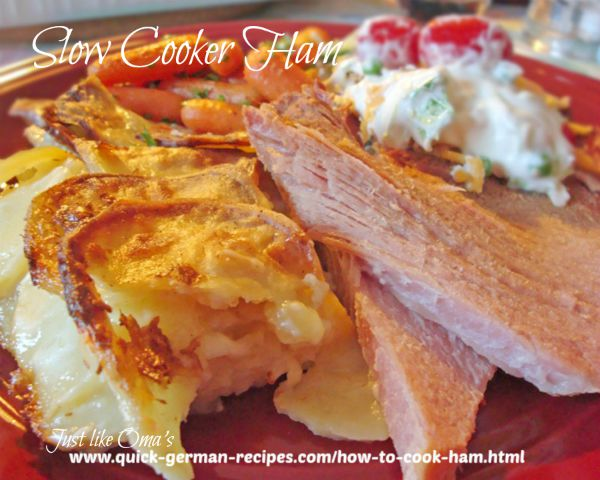 Here`s how to cook ham in a slow cooker