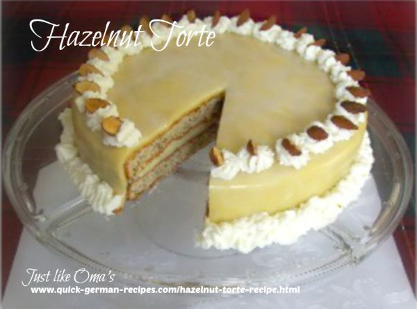 German Hazelnut Torte