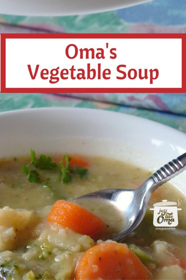 bowl of easy homemade vegetable soup