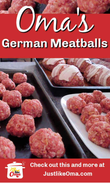 Learn how to make German Meatballs just like my Mutti did!