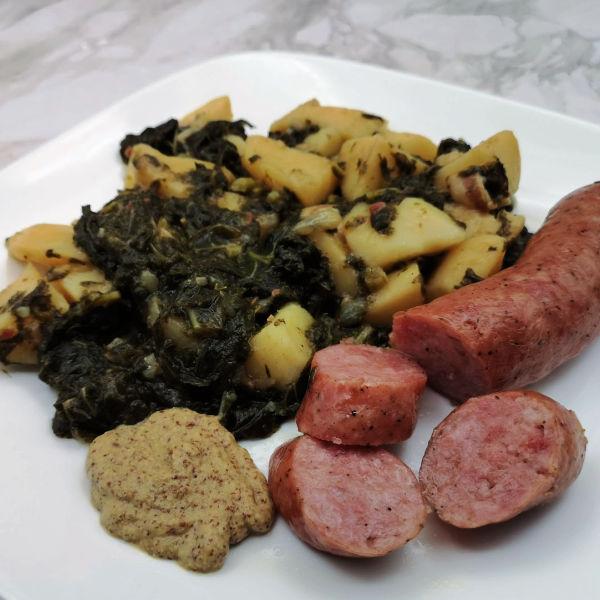 Oma's Kale and Potato Recipe ~ Grünkohl mit Kartoffeln