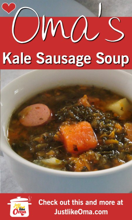 Delicious and healthy Kale and Sausage soup