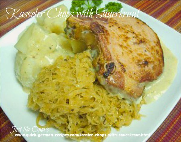 Kasseler Chops with sauerkraut