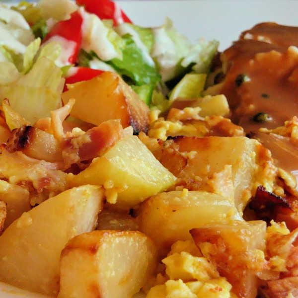 Kohlrabi recipe with ham