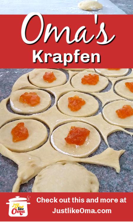 ❤️ Making Berliner Pfannkuchen or Krapfen ~ German jelly donut that's so popular for New Year's. https://www.quick-german-recipes.com/jelly-donut-recipe.html #germanfood  #krapfen #justlikeoma