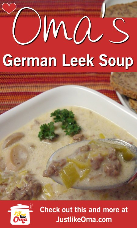 ❤️ German leek soup with cheese made just like Oma. Wunderbar!  https://www.quick-german-recipes.com/leek-soup-recipe.html #leeksoup #germanrecipe #justlikeoma